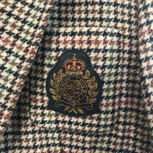 Lauren Ralph Lauren Jackets & Coats - Lauren Ralph Lauren Houndstooth Crested Blazer 16